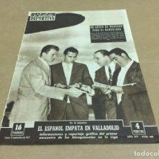 Coleccionismo deportivo: 15-9-1957 LAZLO KASZAS / GIJON AT MADRID R MADRID OSASUNA JAEN GRANADA LAS PALMAS VALENCIA . Lote 196067838