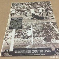Coleccionismo deportivo: 5-11-1956 COPA EUROPA: R MADRID RAPID VIENA / R MADRID AT BILBAO VALENCIA BARCELONA CELTA JAEN. Lote 196082740