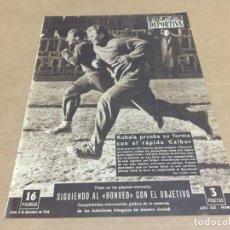 Collectionnisme sportif: 3-12-1956 CONDAL BARCELONA OSASUNA JAEN ZARAGOZA VALENCIA ESPAÑOL AT BILBAO / R MADRID HONVED. Lote 196083115