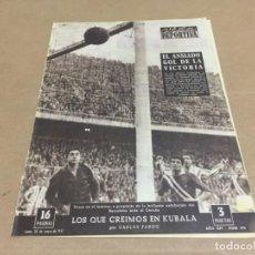 Collectionnisme sportif: 28-1-1957 JAEN R SOCIEDAD AT MADRID VALENCIA ESPAÑOL CONDAL CORUÑA BARCELONA VALLADOLID R MADRID. Lote 196083180