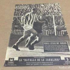 Collectionnisme sportif: 29-10-1956 BARCELONA R SOCIEDAD JAEN ZARAGOZA CORUÑA R MADRID VALLADOLID CONDAL / BARCELONA KIKERS . Lote 196083316