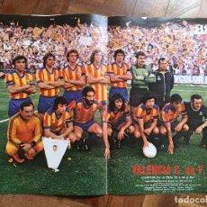 Colecionismo desportivo: POSTER VALENCIA CAMPEON COPA DEL REY 78-79 AS COLOR RESERVADO. Lote 196268483