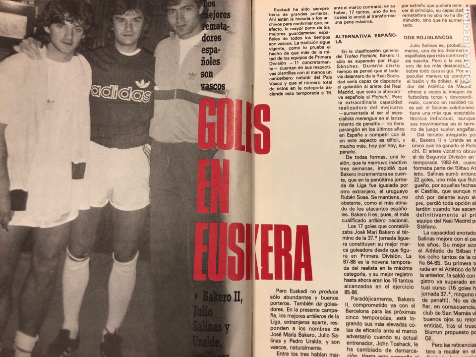 Coleccionismo deportivo: DON BALÓN N° 658 (1988). POSTER ESPAÑOL SUBCAMPEÓN COPA UEFA, FINAL UEFA, TXIKI BEGUIRISTAIN,... - Foto 4 - 196283021