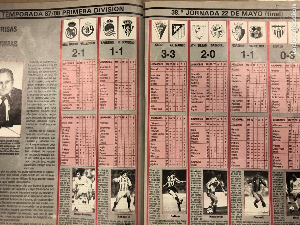 Coleccionismo deportivo: DON BALÓN N° 658 (1988). POSTER ESPAÑOL SUBCAMPEÓN COPA UEFA, FINAL UEFA, TXIKI BEGUIRISTAIN,... - Foto 8 - 196283021