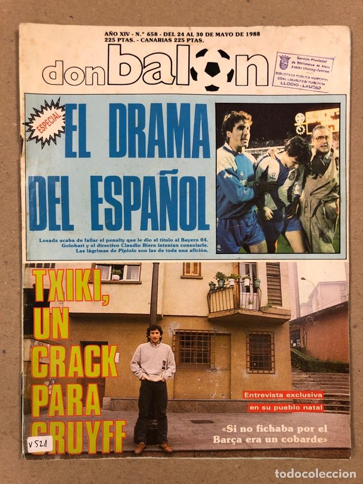 DON BALÓN N° 658 (1988). POSTER ESPAÑOL SUBCAMPEÓN COPA UEFA, FINAL UEFA, TXIKI BEGUIRISTAIN,... (Coleccionismo Deportivo - Revistas y Periódicos - Don Balón)
