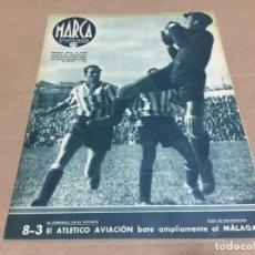 Coleccionismo deportivo: 4-5-1943 LIGA: SALAMANCA R MADRID VALENCIO ALCOYANO AT AVIACION COPA: GRANADA CEUTA SEVILLA XEREZ. Lote 196291457