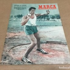 Coleccionismo deportivo: 20-10-1953 AT MADRID CELTA VALENCIA SEVILLA GIJON AT BILBAO OVIEDO JAEN VALLADOLID / MAUREN CONNOLLY. Lote 196300827