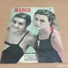 Coleccionismo deportivo: 6-4-1952 PAQUITA CLOS Y MONTSERRAT MECHO / R MADRID OVIEDO ROUBAIX ATLETICO MADRID / BEN BAREK. Lote 196304441