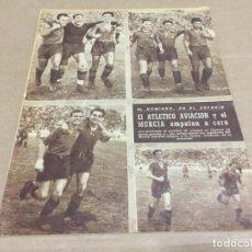 Coleccionismo deportivo: 2-10-1945 AT AVIACION MURCIA / ALCOYANO OVIEDO / SEVILLA CELTA / R MADRID CASTELLON / ZARAGOZA CEUTA. Lote 196333173