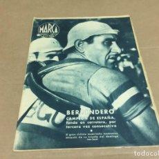 Coleccionismo deportivo: 4-6-1944 BERRENDERO CAMPEON FONDO DE CARRETERA / HOMENAJE A CUBELLS: VALENCIA - SEVILLA 4-2. Lote 196333337