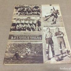 Coleccionismo deportivo: 3-4-1945 COPA: AT BILBAO AT AVIACION / CASTELLON GRANADA / VALENCIA SEVILLA / ROMANONI BARTROLI. Lote 196371592