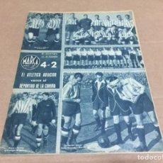 Coleccionismo deportivo: 7-3-1944 AT AVIACION CORUÑA / SABADELL R SOCIEDAD / MALAGA ELCHE / CASTELLON BARCELONA / VALENCIA. Lote 196372528