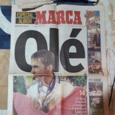 Colecionismo desportivo: DIARIO MARCA, DOMINGO 27 DE MAYO DEL 2001, ESPECIAL ALIRON. Lote 196542636