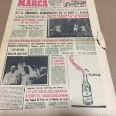 Coleccionismo deportivo: 31-3-1966 FAIRS CUP QUARTER-FINALS : REAL ZARAGOZA - DUNFERMLINE / YOUTH: ENGLAND SPAIN . Lote 196630560