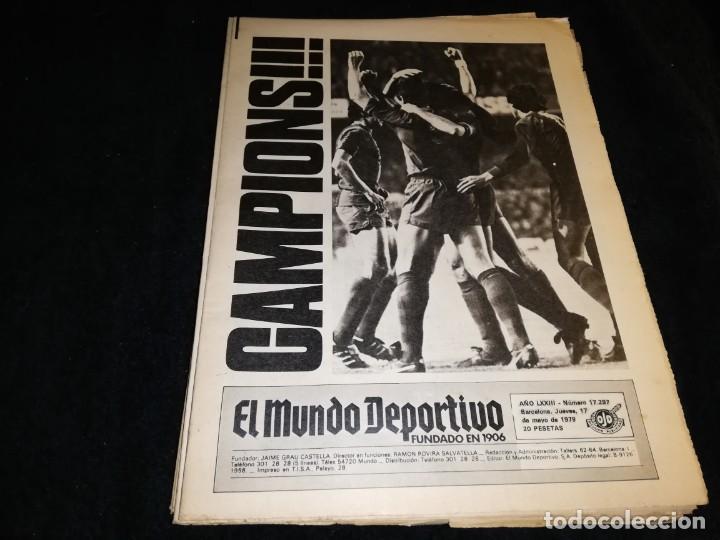 DIARIO MUNDO DEPORTIVO CAMPEON RECOPA 1979 BARCELONA (Coleccionismo Deportivo - Revistas y Periódicos - Mundo Deportivo)