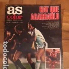Colecionismo desportivo: AS COLOR 432 PORTADA SIMONSEN POSTER A4 HERCULES. SIN POSTER CENTRAL RESERVADO. Lote 196801385