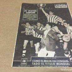 Coleccionismo deportivo: 30-6-1958 WORLD CUP FINAL: SWITZERLAND - BRAZIL 2-5 / FINAL COPA: REAL MADRID - AT BILBAO 0-2. Lote 197064967
