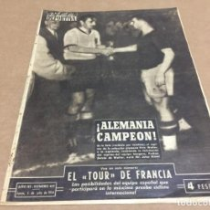 Coleccionismo deportivo: 5-7-1954 WIMVLEDON: SCHEDULE & DROBNY WINNER / WORLD CUP FINAL: GERMANY 3 - HUNGARY 2. Lote 197065730