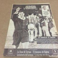 Coleccionismo deportivo: 29-5-1961 EUROPEAN CUP: BENFICA FCB / R MADRID SANTANDER / TENERIFE ZARAGOZA / SANTANA CAMPEON MUNDO. Lote 197140947