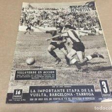 Coleccionismo deportivo: 7-5-1956 RETIRADA MARCIANO / COPA: BARCELONA - HERCULES/ JAEN VALENCIA / LAS PALMAS AT MADRID. Lote 197142430