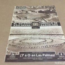 Coleccionismo deportivo: 30-9-1957 INAGURACION CAMP NOU: BARCELONA: VARSOVIA , FLAMENGO BURNLEY, BORUSSIA. Lote 197143523