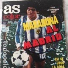 Colecionismo desportivo: AS COLOR 425 LANDABURU, PEREIRA, CUNNINGHAM Y COPA DEL REY SIN POSTER CENTRAL RESERVADO. Lote 197463965