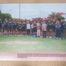 Collezionismo sportivo: FÚTBOL U.D. LAS PALMAS HOJA CON FOTO EQUIPO REVISTA DON BALÓN 1998 1999. Lote 197973898