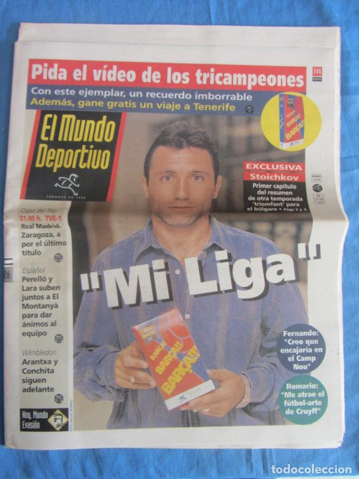 MUNDO DEPORTIVO JUNIO 1993. STOICHKOV. (Coleccionismo Deportivo - Revistas y Periódicos - Mundo Deportivo)
