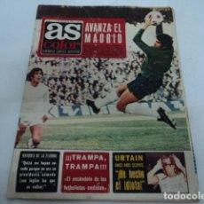Coleccionismo deportivo: DIARIO DEPORTIVO AS COLOR FEBRERO 1973 AVANZA EL REAL MADRID URTAIN BOXEO Y POSTER DE PIRRI . Lote 198651313