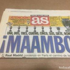 Coleccionismo deportivo: 25-5-2000 FINAL CHAMPIONS LEAGUE: REAL MADRID - VALENCIA 3-0 REPORTAJE CON ALINEACIONES, GOLES Y MAS. Lote 198844360