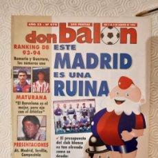 Coleccionismo deportivo: DON BALON NUMERO 979. AGOSTO 1994.. Lote 198947681
