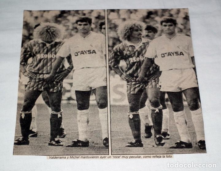 RECORTE PRENSA AÑO 1991 - MICHEL Y VALDERRAMA REAL MADRID - VALLADOLID (Coleccionismo Deportivo - Revistas y Periódicos - Marca)