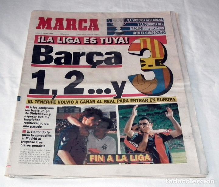 DIARIO MARCA - F.C. BARCELONA CAMPEÓN DE LIGA 92-93 (Coleccionismo Deportivo - Revistas y Periódicos - Marca)