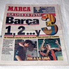 Coleccionismo deportivo: DIARIO MARCA - F.C. BARCELONA CAMPEÓN DE LIGA 92-93. Lote 34162234