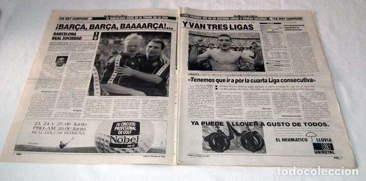 Coleccionismo deportivo: DIARIO MARCA - F.C. BARCELONA CAMPEÓN DE LIGA 92-93 - Foto 3 - 34162234