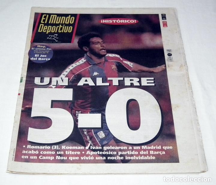PERIÓDICO EL MUNDO DEPORTIVO - UN ALTRE 5-0 - F.C. BARCELONA 5 - REAL MADRID 0 (Coleccionismo Deportivo - Revistas y Periódicos - Mundo Deportivo)