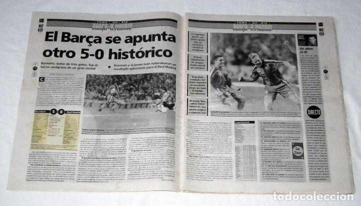 Coleccionismo deportivo: PERIÓDICO EL MUNDO DEPORTIVO - UN ALTRE 5-0 - F.C. BARCELONA 5 - REAL MADRID 0 - Foto 2 - 199068951