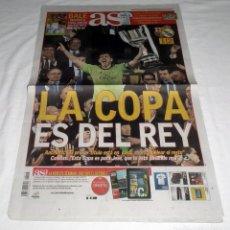 Coleccionismo deportivo: DIARIO AS - FINAL COPA DEL REY 2014 - REAL MADRID - F.C. BARCELONA. Lote 48460602