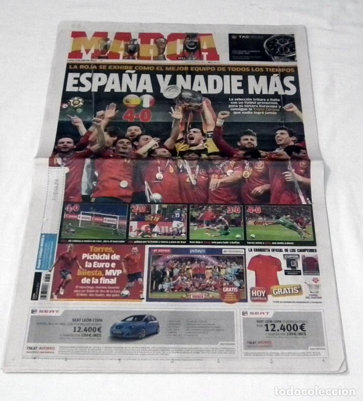 DIARIO MARCA EUROCOPA 2012 - ESPAÑA Y NADIE MAS - SELECCION ESPAÑOLA LA ROJA (Coleccionismo Deportivo - Revistas y Periódicos - Marca)