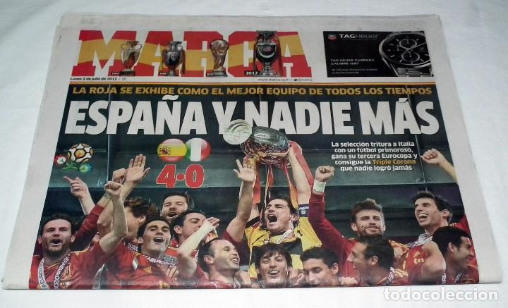 Coleccionismo deportivo: DIARIO MARCA EUROCOPA 2012 - ESPAÑA Y NADIE MAS - SELECCION ESPAÑOLA LA ROJA - Foto 2 - 199088786