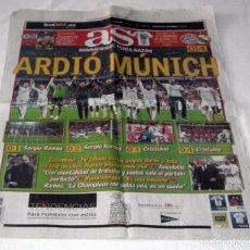 Coleccionismo deportivo: DIARIO AS CHAMPIONS LEAGUE BAYERN MUNICH 0 REAL MADRID 4. Lote 199089175