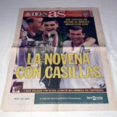 Coleccionismo deportivo: DIARIO AS CHAMPIONS LEAGUE 2002 FINAL REAL MADRID BAYERN LEVERKUSEN LA NOVENA. Lote 199089950