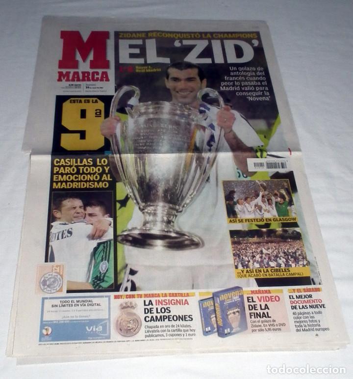 DIARIO MARCA CHAMPIONS LEAGUE 2002 FINAL REAL MADRID BAYERN LEVERKUSEN LA NOVENA EL ZID (Coleccionismo Deportivo - Revistas y Periódicos - Marca)