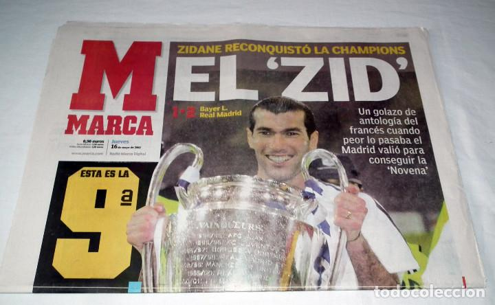 Coleccionismo deportivo: DIARIO MARCA CHAMPIONS LEAGUE 2002 FINAL REAL MADRID BAYERN LEVERKUSEN LA NOVENA EL ZID - Foto 2 - 199090471
