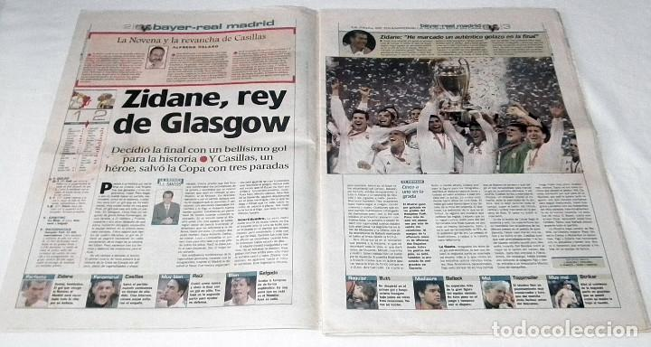 Coleccionismo deportivo: DIARIO MARCA CHAMPIONS LEAGUE 2002 FINAL REAL MADRID BAYERN LEVERKUSEN LA NOVENA EL ZID - Foto 3 - 199090471