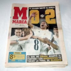 Coleccionismo deportivo: DIARIO MARCA CHAMPIONS LEAGUE 2002 - F.C. BARCELONA 0 REAL MADRID 2. Lote 199091300