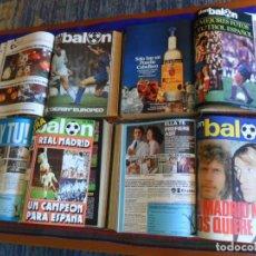 Coleccionismo deportivo: DON BALÓN 16 AL 33 EXTRA REAL MADRID 34 AL 45, 76 AL 90 MEJORES FOTOS FÚTBOL ESPAÑOL, 316 AL 330. BE. Lote 199186301