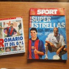 Coleccionismo deportivo: SUPER ESTRELLAS SPORT LIGA 2001/2002 Y ROMARIO REY DEL GOL. Lote 199298832