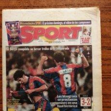 Coleccionismo deportivo: DIARIO SPORT 6345 BARCA REY DE COPAS F. C. BARCELONA CAMPEÓN COPA DEL REY 1997.. Lote 199446998
