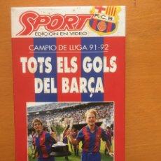 Coleccionismo deportivo: VHS TOTS ELS GOLS DEL BARÇA TEMPORADA 1991/92. Lote 199639380